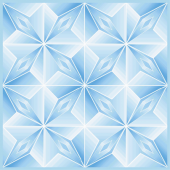 Оригами голубая